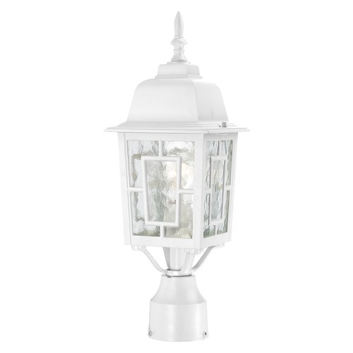Nuvo Lighting Post Light with Clear Glass in White Finish 60/4927