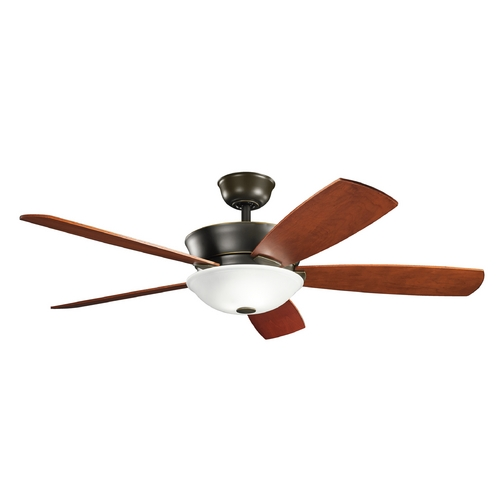 Kichler Lighting Kichler Lighting Skye Oiled Bronze Ceiling Fan with Light 300167OLZ