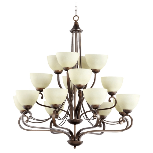 Quorum Lighting Quorum Lighting Lariat Oiled Bronze Chandelier 6031-16-86