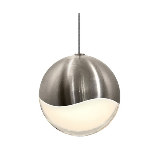 Sonneman Lighting Sonneman Grapes Satin Nickel 1 Light LED Mini-Pendant Light 2912.13-LRG