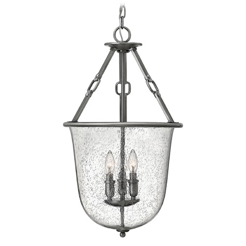 Hinkley Lighting Hinkley Lighting Dakota Polished Antique Nickel Pendant Light with Urn Shade 4783PL