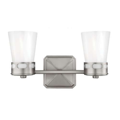 Feiss Lighting Feiss Lighting Cupertino Satin Nickel Bathroom Light VS20302SN