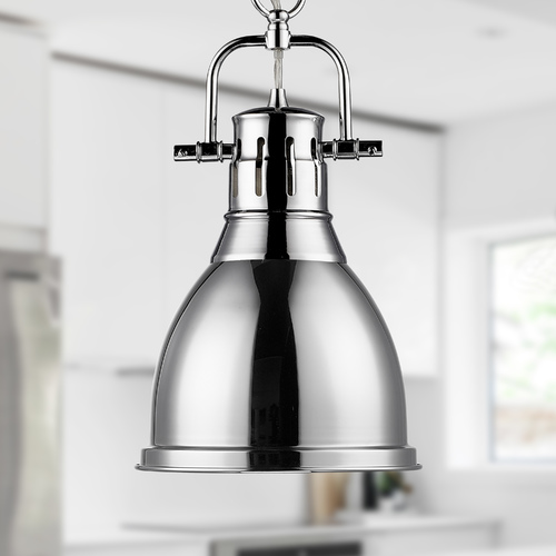 Golden Lighting Golden Lighting Duncan Chrome Mini-Pendant Light 3602-S CH-CH