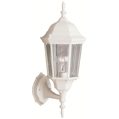 Kichler Lighting Kichler Outdoor Wall Light with Clear Glass in White Finish 9653WH