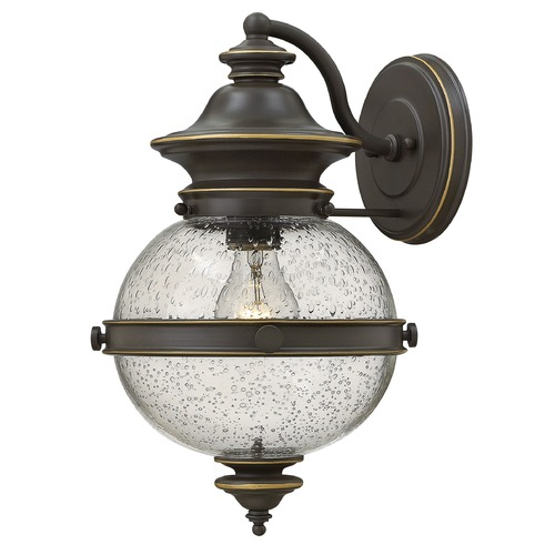 Hinkley Lighting Hinkley Lighting Saybrook Oil Rubbed Bronze Outdoor Wall Light 2344OZ