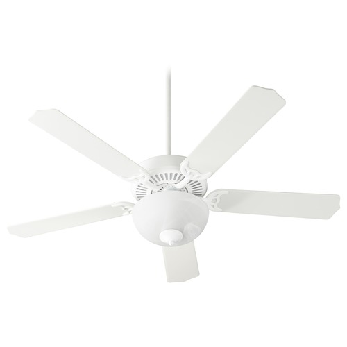 Quorum Lighting Quorum Lighting Capri Viii Studio White LED Ceiling Fan with Light 7525-9008