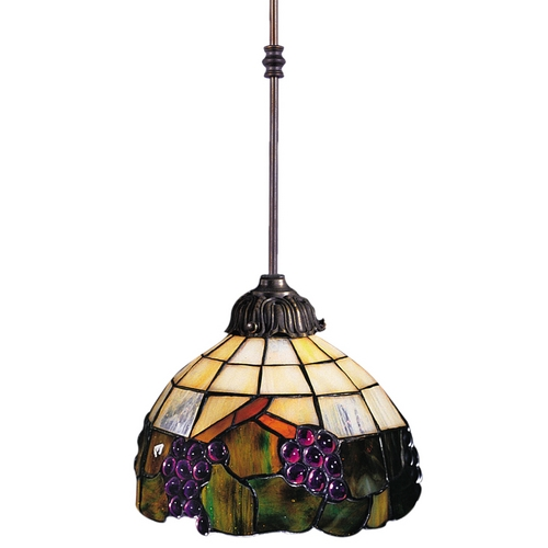 Elk Lighting Mini-Pendant Light with Multi-Color Glass 238-VA
