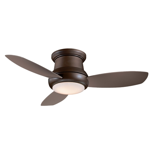 Minka Aire 52-Inch Hugger Ceiling Fan with Three Blades and Light Kit F519-ORB