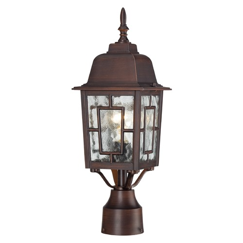 Nuvo Lighting Post Light with Clear Glass in Rustic Bronze Finish 60/4928