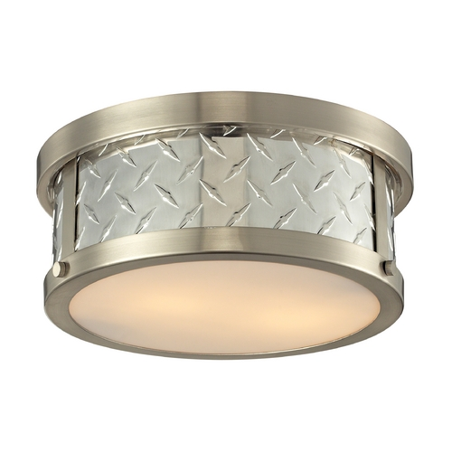 Elk Lighting Flushmount Light in Brushed Nickel Finish 31421/2