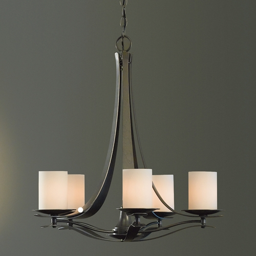 Hubbardton Forge Lighting Hubbardton Forge Lighting Berceau Burnished Steel Chandelier 101281-SKT-08-GG0188