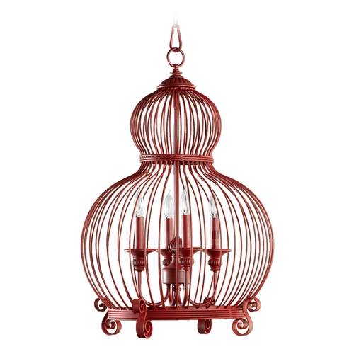 Quorum Lighting Quorum Lighting Red Pendant Light 6765-4-34