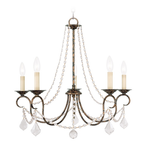 Livex Lighting Livex Lighting Pennington Venetian Golden Bronze Crystal Chandelier 6515-71