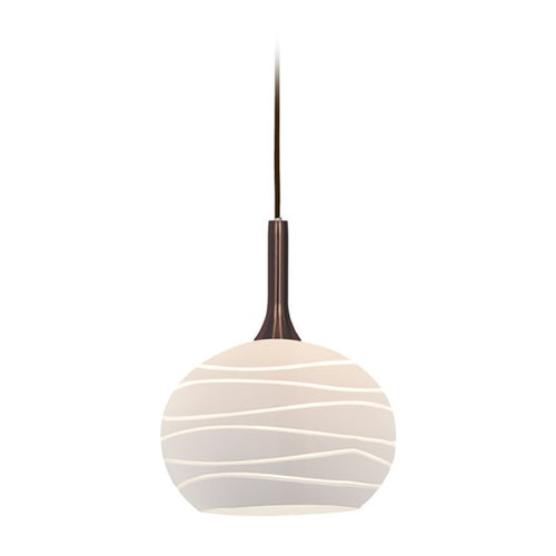 Access Lighting Access Lighting Delta Brushed Steel Mini-Pendant Light with Bowl / Dome Shade 97979-BS/WHTLN