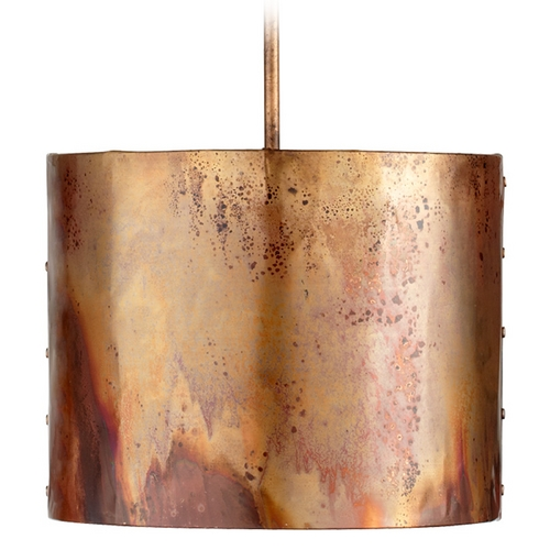 Cyan Design Cyan Design Mauviel Copper Pendant Light with Drum Shade 05156