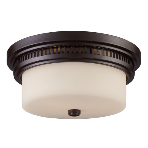 Elk Lighting Elk Lighting Oiled Bronze Flushmount Light 66631-2