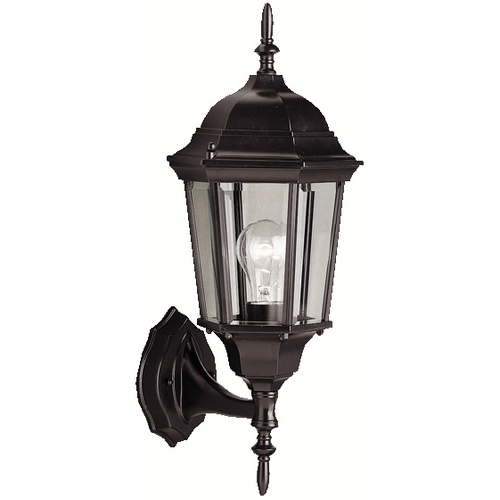 Kichler Lighting Kichler Outdoor Wall Light with Clear Glass in Black Finish 9654BK