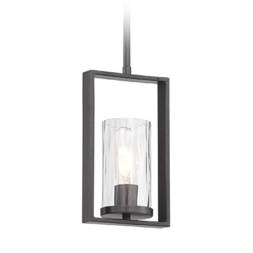 Designers Fountain Lighting Designers Fountain Elements Charcoal Mini-Pendant Light with Cylindrical Shade 86530-CHA