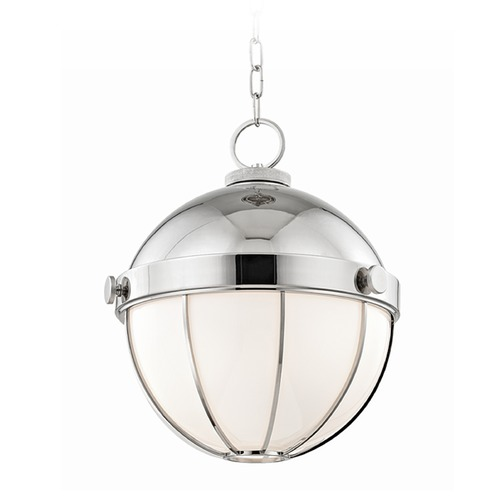 Hudson Valley Lighting Hudson Valley Lighting Sumner Polished Nickel Pendant Light with Bowl / Dome Shade 2315-PN
