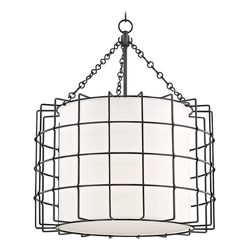 Hudson Valley Lighting Hudson Valley Lighting Sovereign Old Bronze LED Pendant Light with Drum Shade 1524-OB