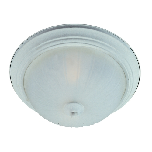 Maxim Lighting Flushmount Light with White Glass in Textured White Finish 85830FTTW