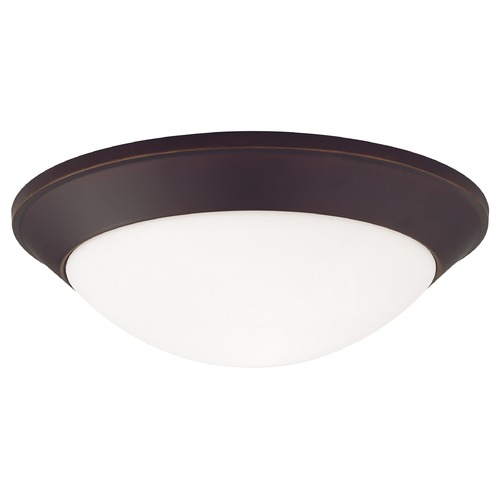 Dolan Designs Lighting Modern Flushmount Light with White Glass in Bolivian Bronze Finish 5403-78