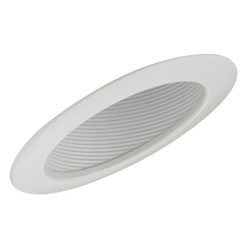 Recesso Lighting by Dolan Designs 6-Inch White Recessed Sloped Ceiling Baffle Trim T663W-WH