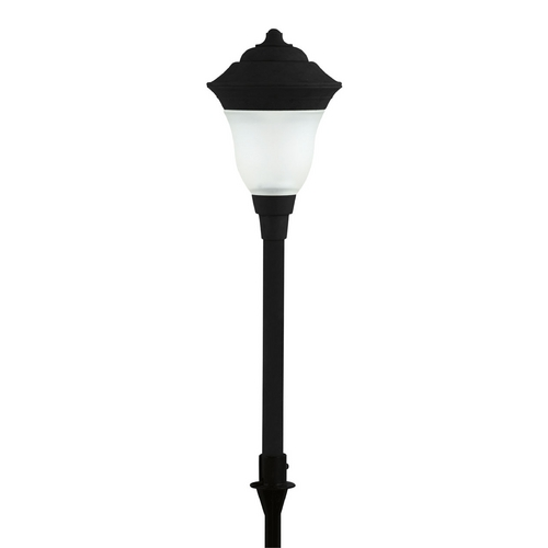 Progress Lighting Progress LED Path Light with White Glass in Black Finish P5298-31