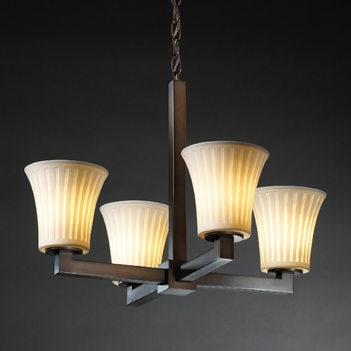 Justice Design Group Justice Design Group Limoges Collection Chandelier POR-8829-20-WFAL-DBRZ