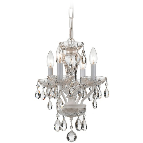 Crystorama Lighting Crystorama Lighting Traditional Crystal Wet White Chandelier 5534-WW-CL-MWP