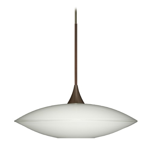 Besa Lighting Besa Lighting Spazio Bronze LED Mini-Pendant Light with Bowl / Dome Shade 1XT-629406-LED-BR