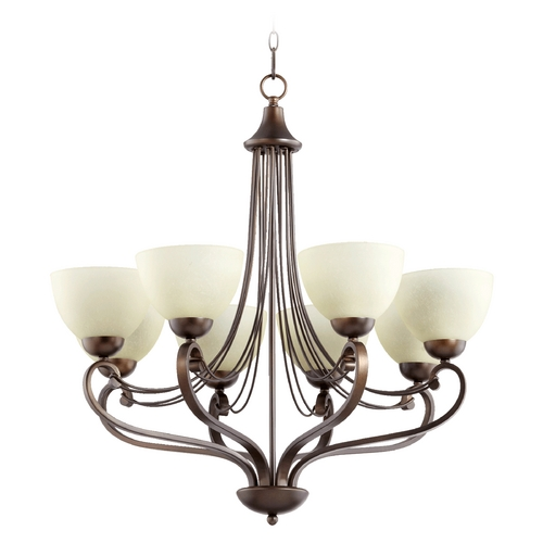 Quorum Lighting Quorum Lighting Lariat Oiled Bronze Chandelier 6031-8-86
