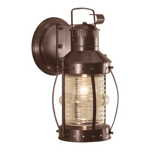 Norwell Lighting Norwell Lighting Seafarer Bronze Outdoor Wall Light 1108-BR-CL