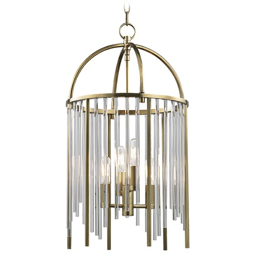 Hudson Valley Lighting Lewis 4 Light Pendant Light - Aged Brass 2512-AGB
