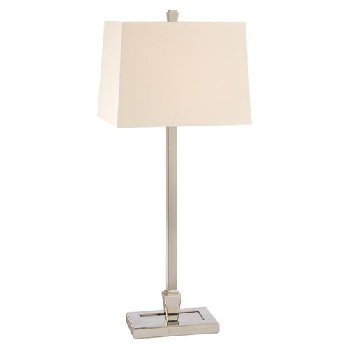 Hudson Valley Lighting Hudson Valley Lighting Burke Polished Nickel Table Lamp with Rectangle Shade L227-PN-WS
