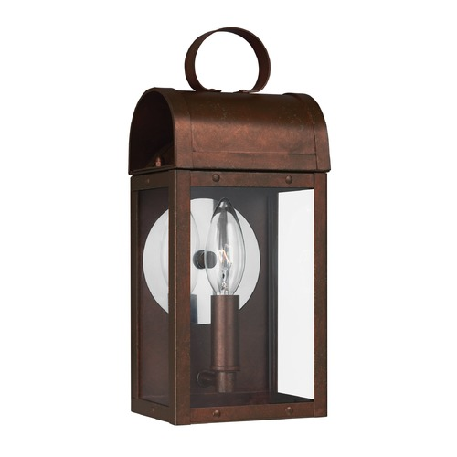 Sea Gull Lighting Sea Gull Conroe Weathered Copper Outdoor Wall Light 8514801-44