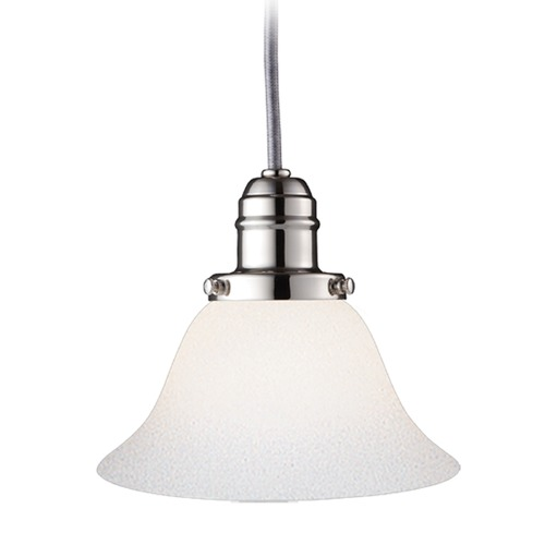 Hudson Valley Lighting Hudson Valley Lighting Vintage Collection Polished Nickel Mini-Pendant Light with Bell Shade 3101-PN-415M