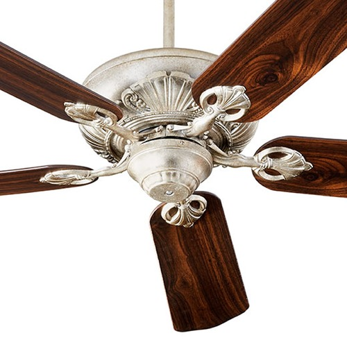 Quorum Lighting Quorum Lighting Chateaux Aged Silver Leaf Ceiling Fan Without Light 78605-60