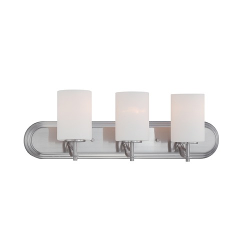 Designers Fountain Lighting Designers Fountain Cassina Satin Platinum Bathroom Light 86903-SP
