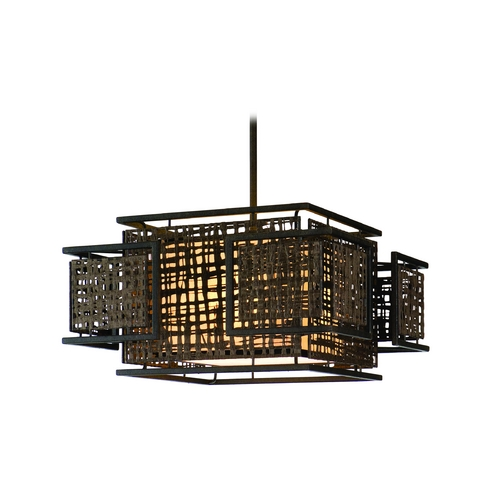 Corbett Lighting Corbett Lighting Shoji Bonsai Bronze Island Light with Rectangle Shade 105-44