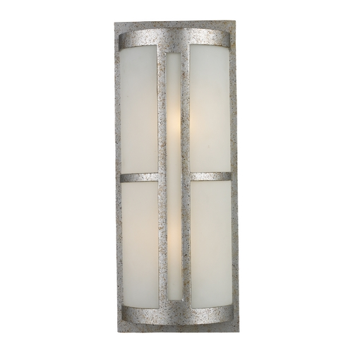 Elk Lighting Modern Outdoor Wall Light with White Glass in Sunset Silver Finish 42096/2