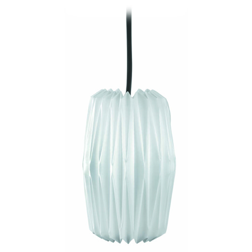 Lite Source Lighting Lite Source Lighting Chrome Mini-Pendant Light with Cylindrical Shade LS-1788C/WHT