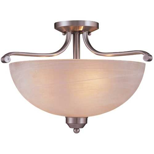 Minka Lavery Energy Star Semi-Flush Ceiling Light - Etched Marble Glass 1424-84-PL