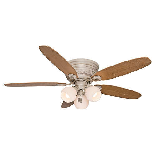 Casablanca Fan Co Casablanca Fan Caledonia Burnished Crème Ceiling Fan with Light 54106