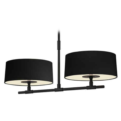 Sonneman Lighting Sonneman Lighting Soho Satin Black Island Light with Drum Shade 4952.25