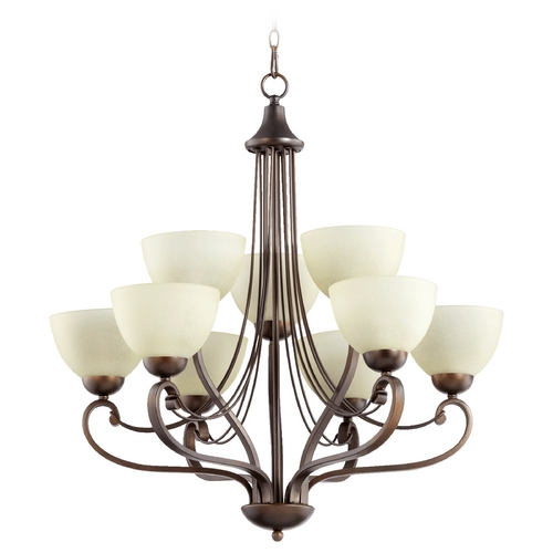 Quorum Lighting Quorum Lighting Lariat Oiled Bronze Chandelier 6031-9-86