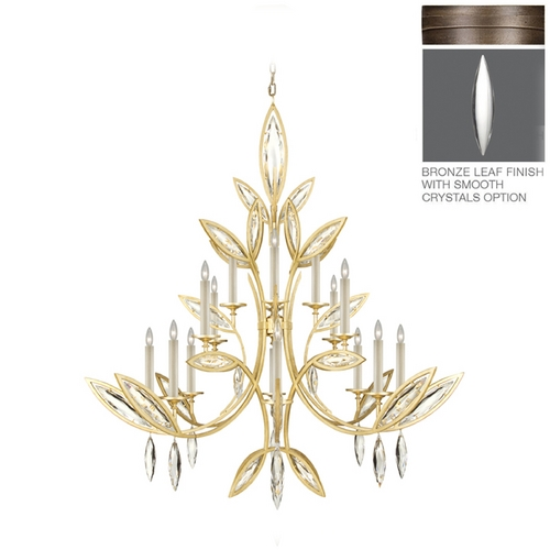 Fine Art Lamps Fine Art Lamps Marquise Antique Hand Rubbed Bronze Crystal Chandelier 844240-31ST