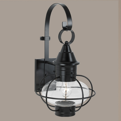 Norwell Lighting Norwell Lighting Vidalia Onion Black Outdoor Wall Light 1609-BL-CL