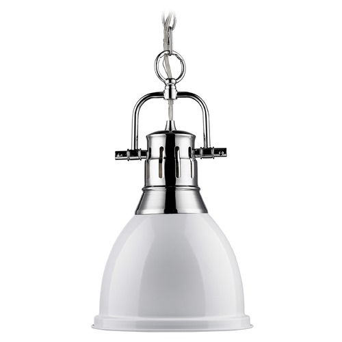 Golden Lighting Golden Lighting Duncan Chrome Mini-Pendant Light 3602-S CH-WH