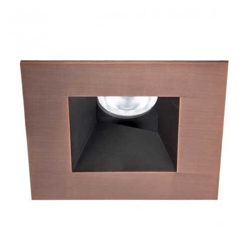 WAC Lighting WAC Lighting Square Copper Bronze 3.5-Inch LED Recessed Trim 3000K 1030LM 52 Degree HR3LEDT518PF930CB
